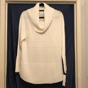 Calvin Klein Cowl Neck Sweater - Cream